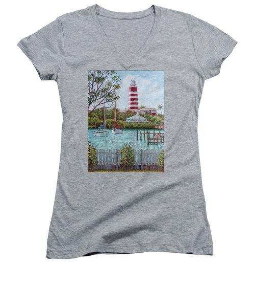 Hope Town Lighthouse Women's V-Neck