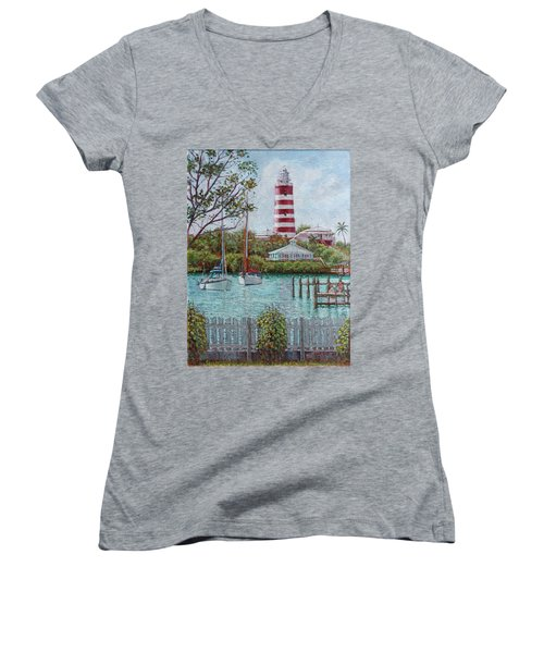 Hope Town Lighthouse Women's V-Neck (Athletic Fit)
