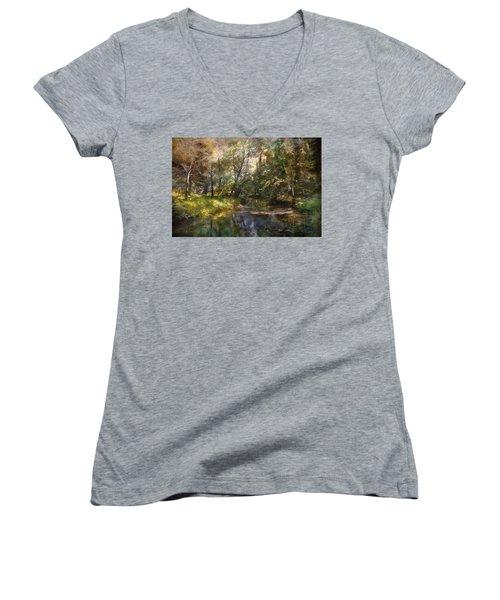 Hopkins Pond, Haddonfield, N.j. Women's V-Neck