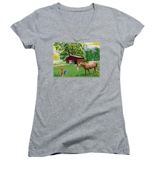Horse And Barn Women's V-Neck T-Shirt