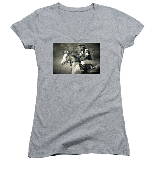 Horse And Jockey Women's V-Neck