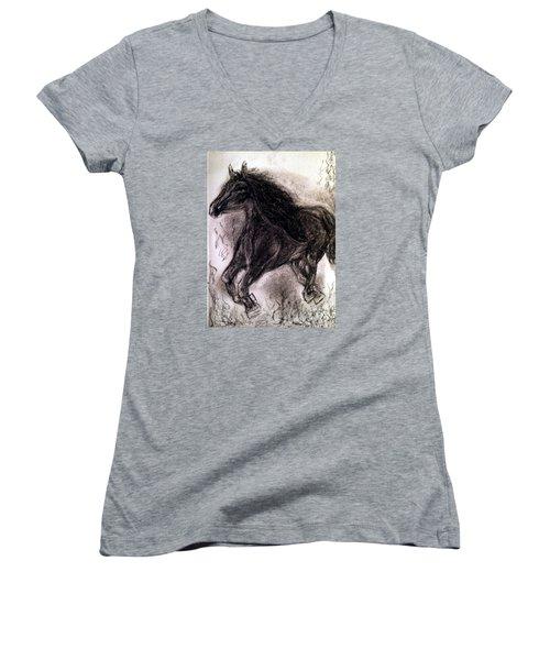 Horse Women's V-Neck (Athletic Fit)