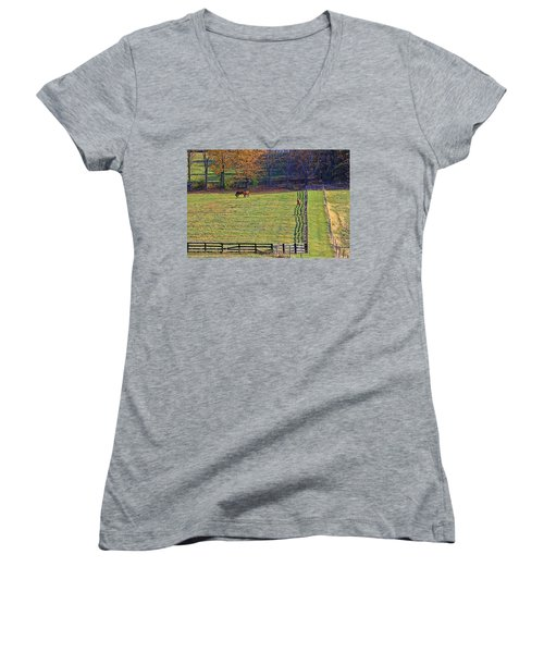 Horse Country # 2 Women's V-Neck
