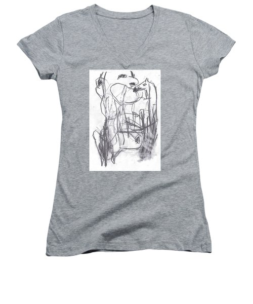 Horse Kiss Women's V-Neck