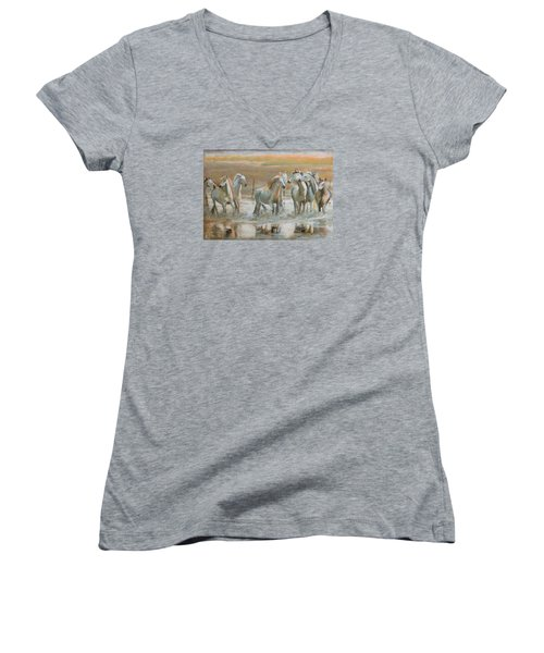 Horse Reflection Women's V-Neck T-Shirt