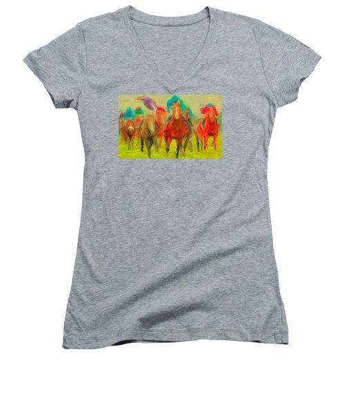 Horse Tracking Women's V-Neck