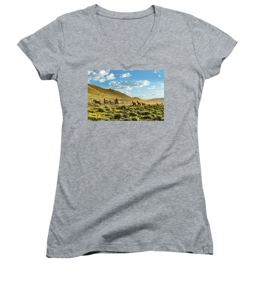 Horses And More Horses Women's V-Neck
