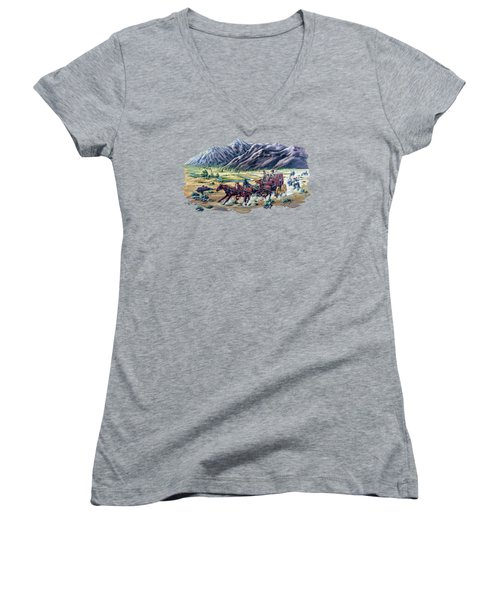 Horses And Motorcycles Women's V-Neck (Athletic Fit)