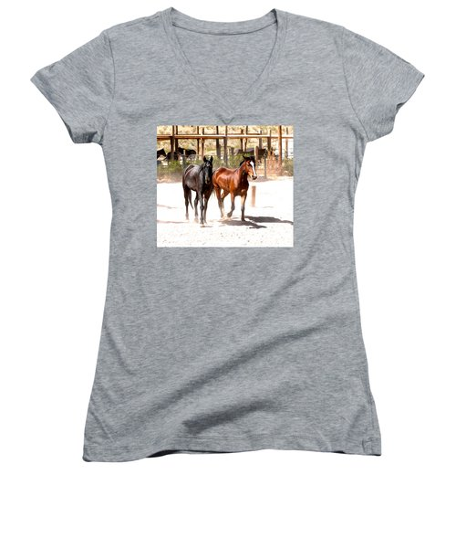 Horses Unlimited_6a Women's V-Neck (Athletic Fit)