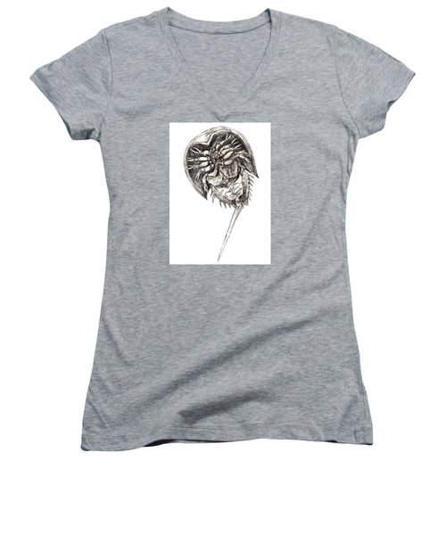 Horseshoe Crab Women's V-Neck T-Shirt