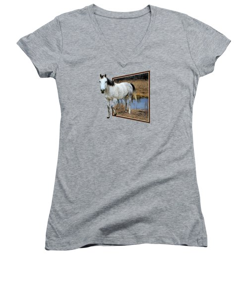 Horsing Around Women's V-Neck