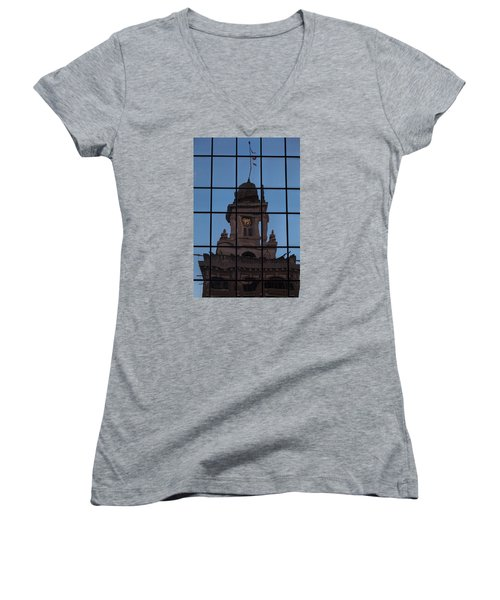 Hortense The Beautiful Women's V-Neck T-Shirt (Junior Cut) by Ed Gleichman