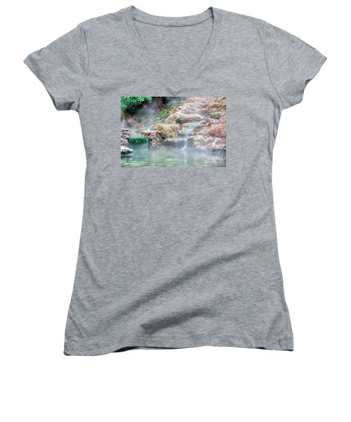 Women's V-Neck T-Shirt (Junior Cut) featuring the photograph Hot Springs In Hot Springs Ar by Diana Mary Sharpton