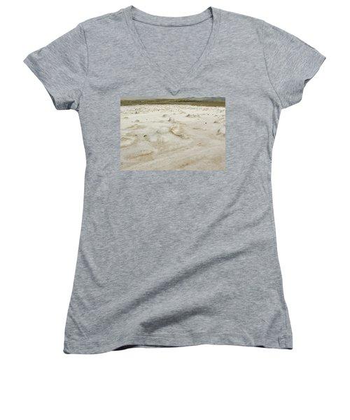 Chert Deposits Women's V-Neck T-Shirt (Junior Cut) by Patrick Kain