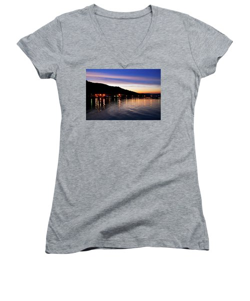Hot Summers Night Women's V-Neck (Athletic Fit)