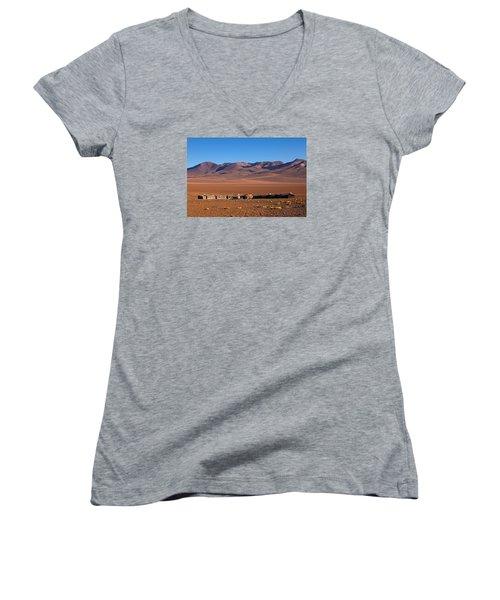 Hotel Tayka Del Desierto In Siloli Desert Women's V-Neck T-Shirt