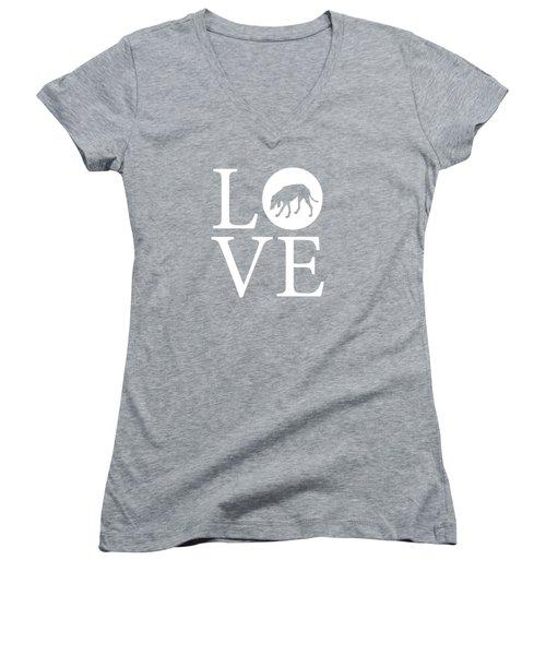 Hound Dog Love Women's V-Neck
