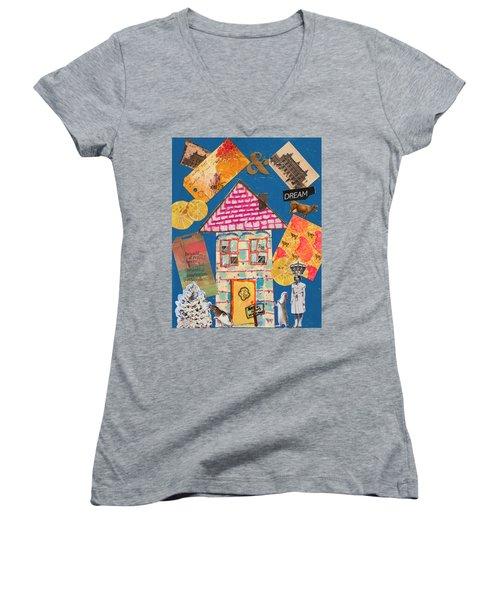 House #1 Women's V-Neck (Athletic Fit)