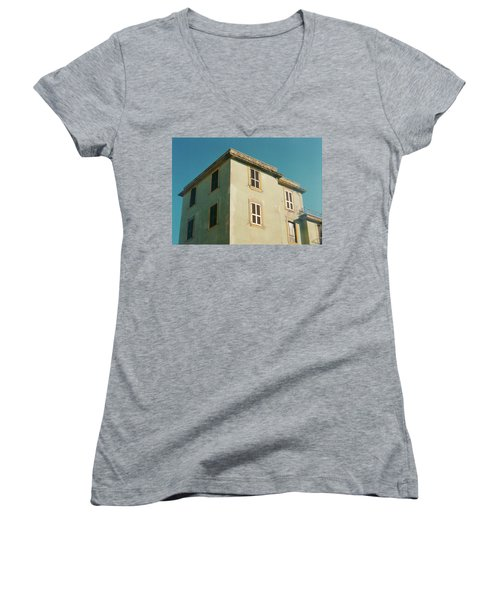 House In Ostia Beach, Rome Women's V-Neck (Athletic Fit)