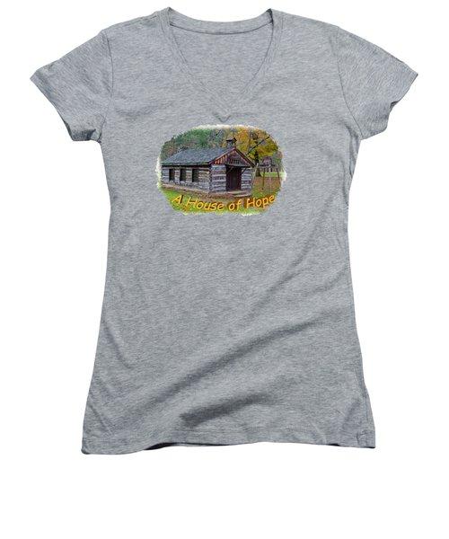 House Of Hope Women's V-Neck T-Shirt (Junior Cut) by John M Bailey