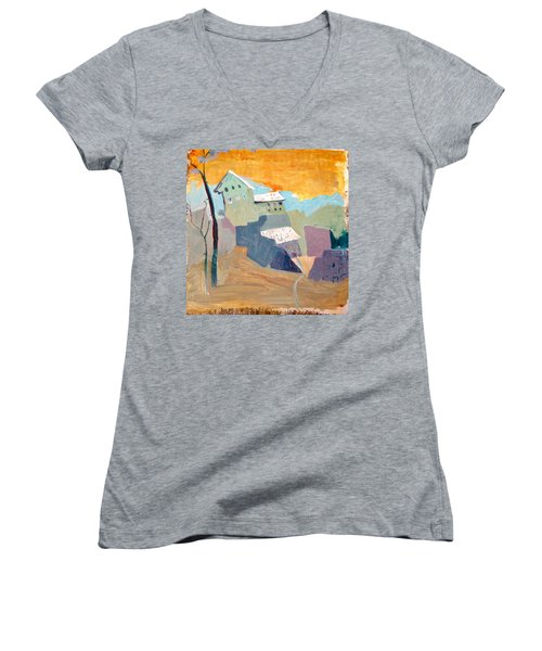 House On A Hill Women's V-Neck T-Shirt