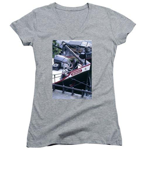 Houseboat In France Women's V-Neck