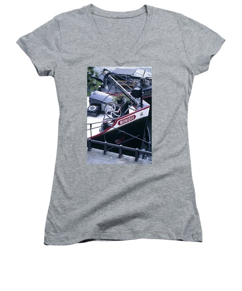 Houseboat In France Women's V-Neck (Athletic Fit)