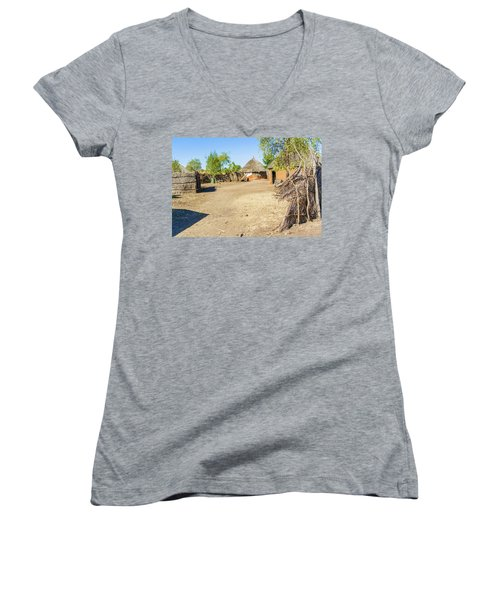 Houses In Rashid,  Sudan Women's V-Neck T-Shirt