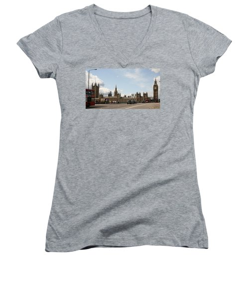 Houses Of Parliament.  Women's V-Neck T-Shirt