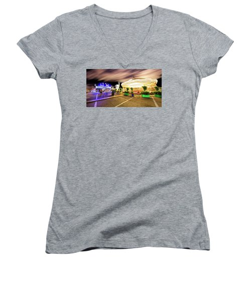 Houston Texas Live Stock Show And Rodeo #8 Women's V-Neck T-Shirt (Junior Cut) by Micah Goff