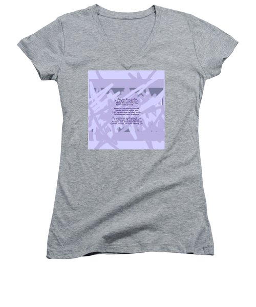 How Now Poem Women's V-Neck