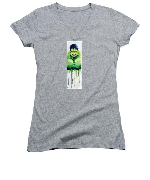 Hulk Women's V-Neck T-Shirt
