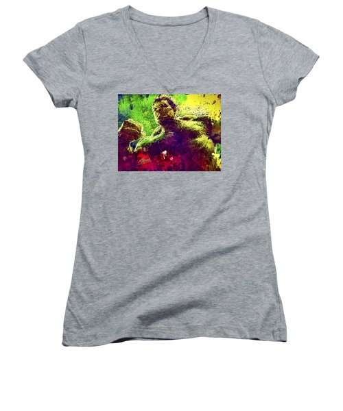 Hulk Smash Women's V-Neck