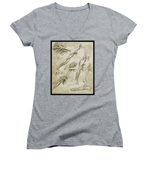 Human Arm Study Women's V-Neck T-Shirt (Junior Cut)