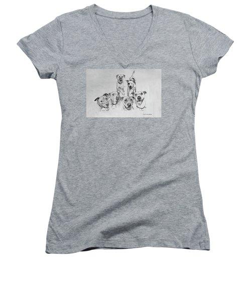 Humane Society Gang Women's V-Neck T-Shirt
