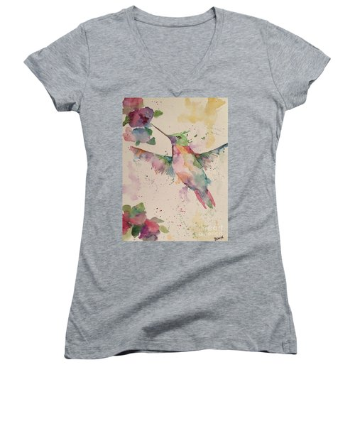 Hummingbird Women's V-Neck