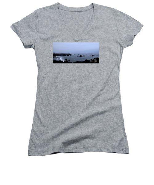 Hwy 1 San Simeon Women's V-Neck T-Shirt