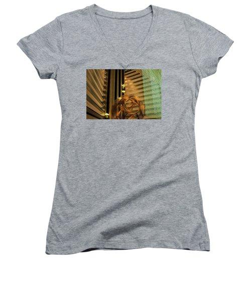 Hyatt Regency Sf Atrium Women's V-Neck T-Shirt