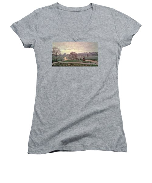 Hyde Park Women's V-Neck T-Shirt (Junior Cut) by Claude Monet