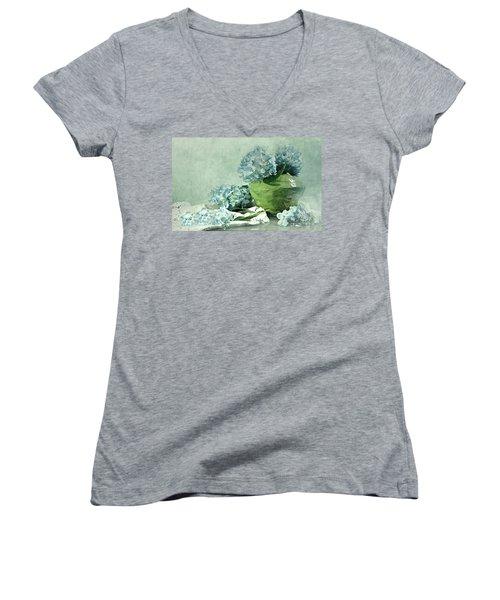 Hydra Blues Women's V-Neck T-Shirt