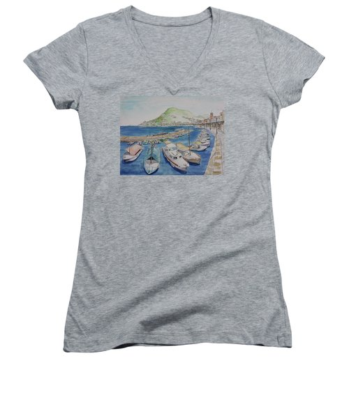 Hydra Harbor Women's V-Neck T-Shirt