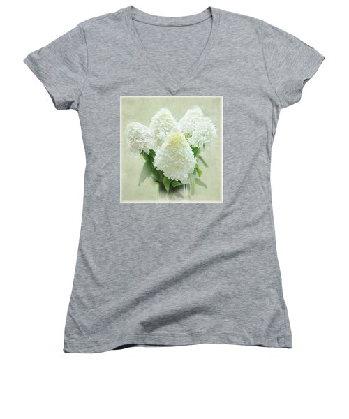 Hydrangeas Women's V-Neck (Athletic Fit)