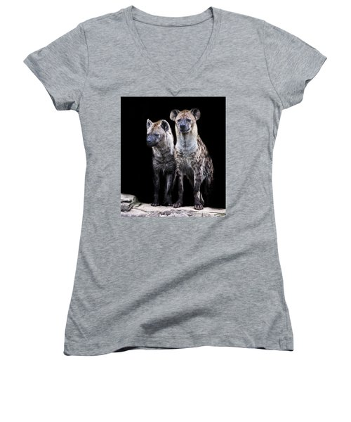 Hyena Lookout Women's V-Neck (Athletic Fit)
