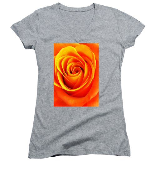 Hypnotic Orange Women's V-Neck (Athletic Fit)