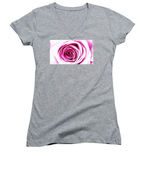 Hypnotic Pink Women's V-Neck (Athletic Fit)