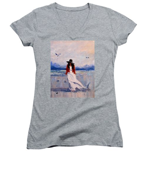 I Am Just A Dreamer.. Women's V-Neck T-Shirt (Junior Cut) by Cristina Mihailescu