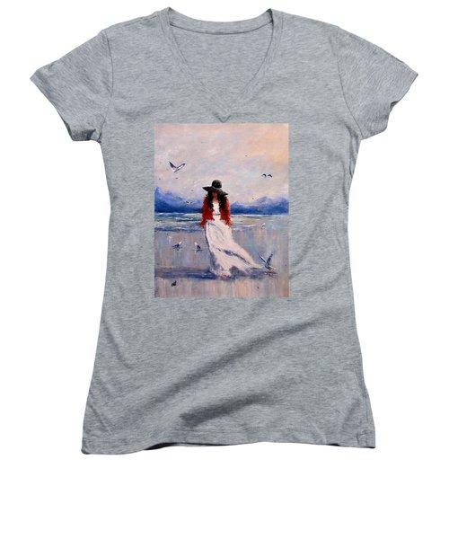 I Am Just A Dreamer.. Women's V-Neck T-Shirt