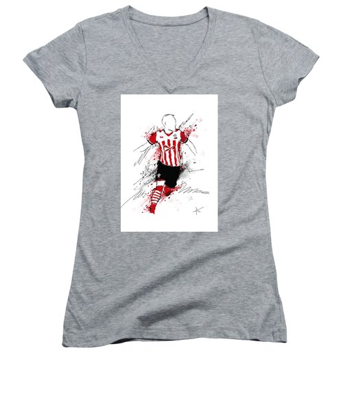 I Am Red And White Stripes Women's V-Neck (Athletic Fit)