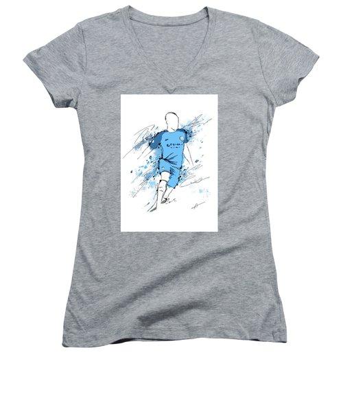I Am Sky Blue #2 Women's V-Neck T-Shirt