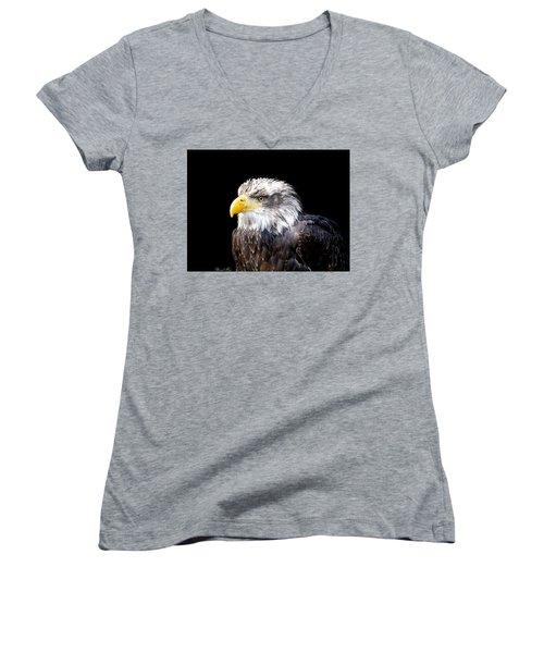 I Am The Law Women's V-Neck T-Shirt (Junior Cut) by Bernd Hau
